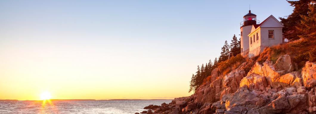 Lighthouse and sunrise